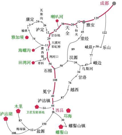 四川甘洛县地图